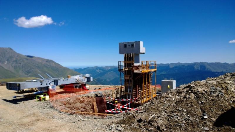 Construction du télésiège débrayable 6 places (TSD6) Bouleaux 11935110