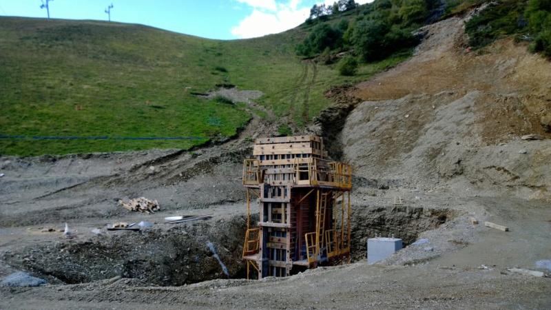 Construction du télésiège débrayable 6 places (TSD6) Bouleaux 12002510