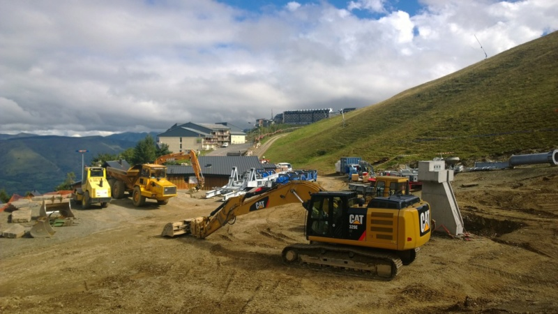 Construction du télésiège débrayable 6 places (TSD6) Bouleaux 12030210
