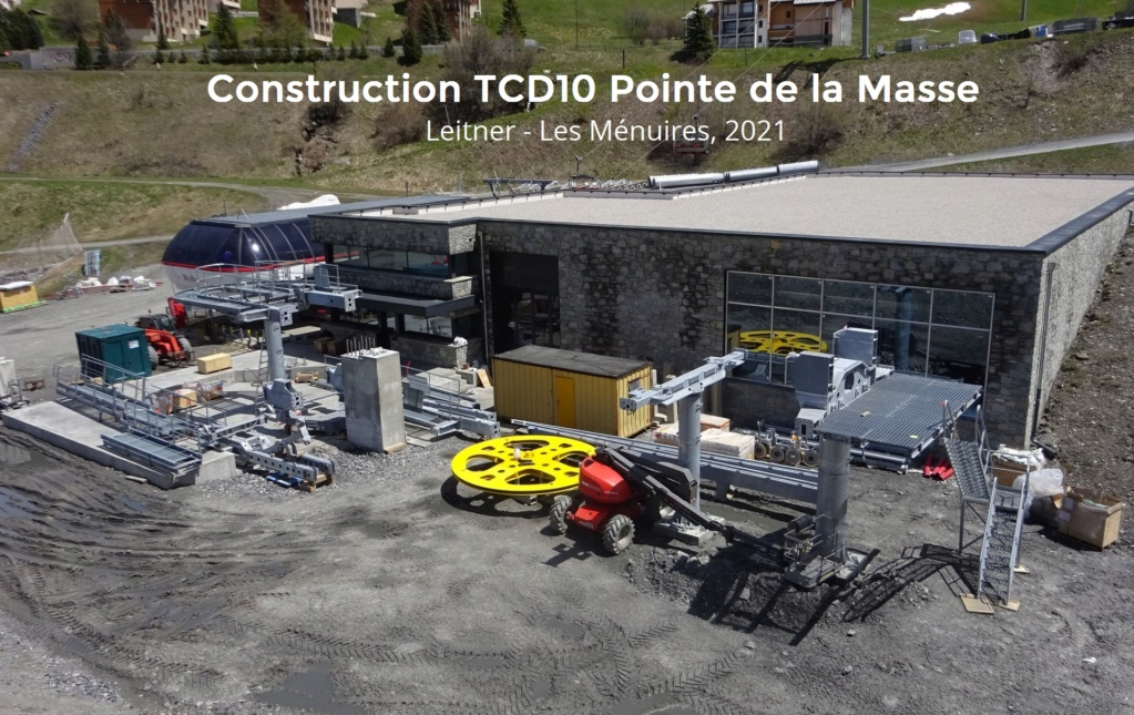 Construction télécabine débrayable 10 places (TCD10) Pointe de la Masse 19005911