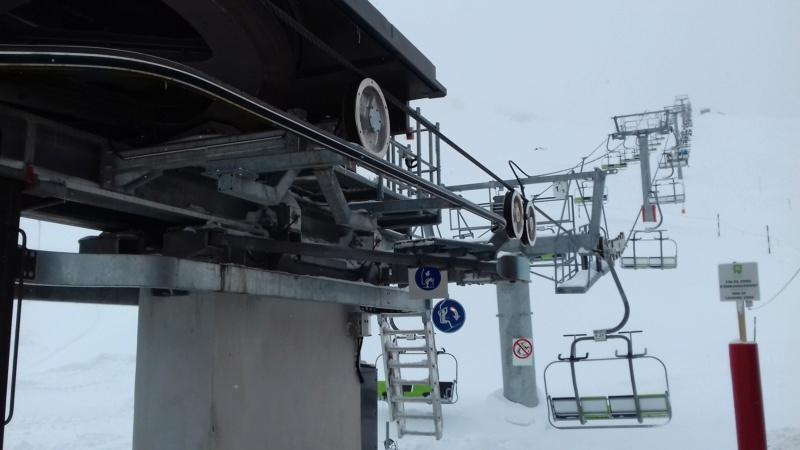 Télésiège fixe 4 places (TSF4) Rocher Blanc 20180120