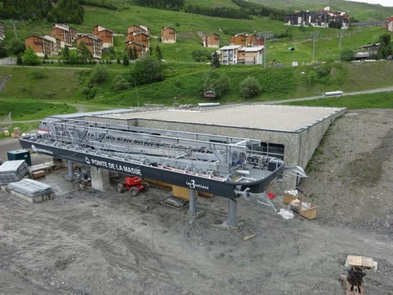Construction télécabine débrayable 10 places (TCD10) Pointe de la Masse 20186110