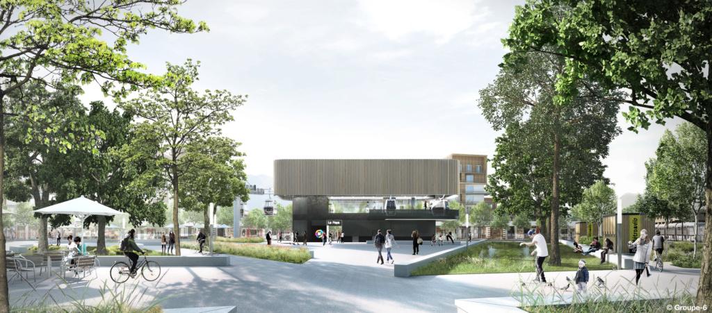 Construction Téléphérique urbain Fontaine - Saint Martin le Vinoux (Grenoble) 211_5411