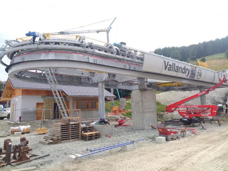 Construction télécabine 10 places (TCD10) Vallandry 22099210