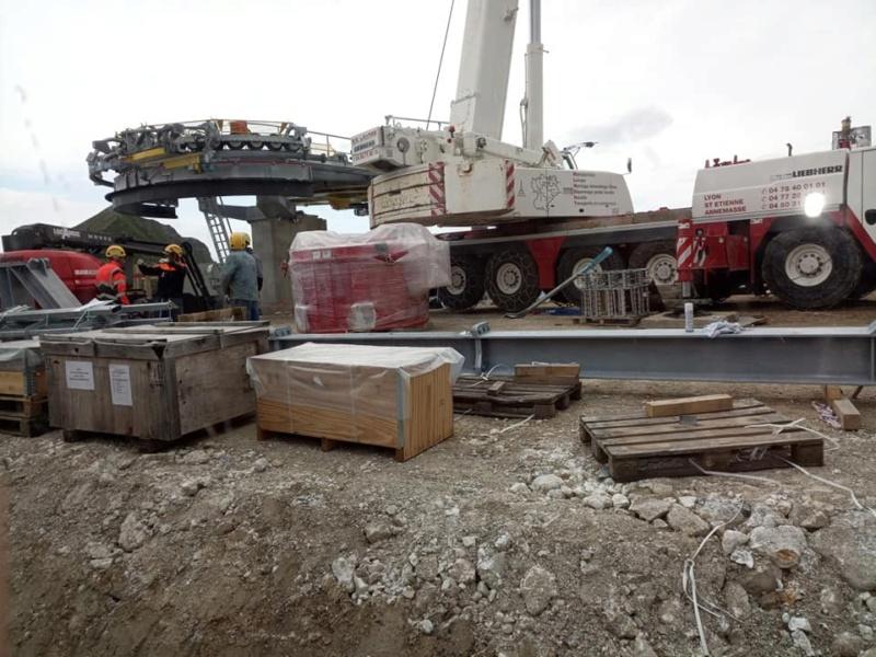 Construction télésiège débrayable TSD6 Lovatière | La Plagne 22278110