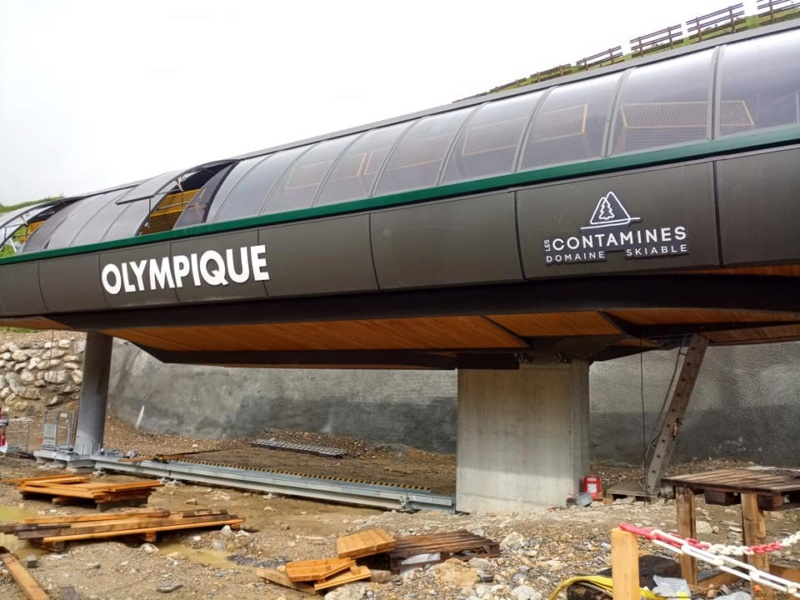 Construction télésiège 6 places (TSD6) de l'Olympique 22297310