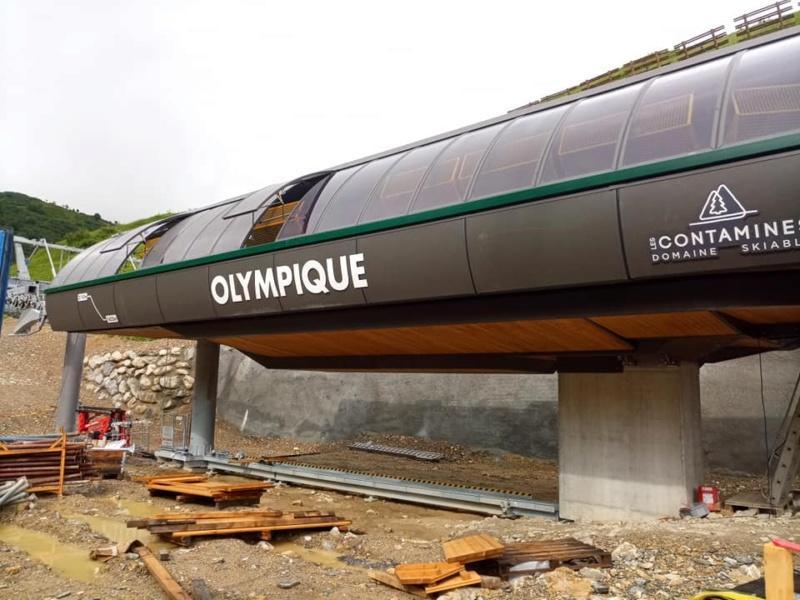 Construction télésiège 6 places (TSD6) de l'Olympique 22387110