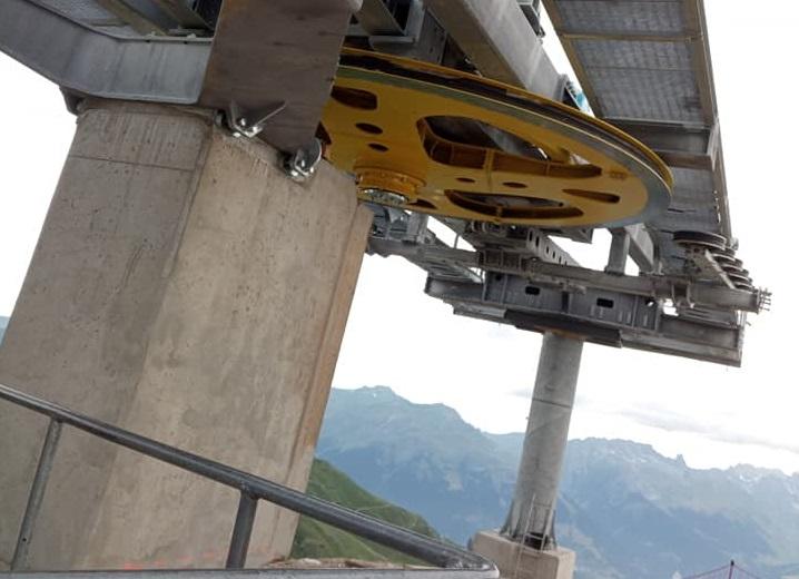 Construction télésiège débrayable TSD6 Lovatière | La Plagne 22412610
