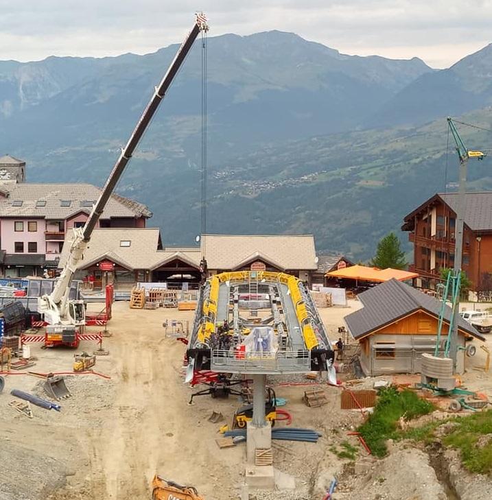 Construction télécabine 10 places (TCD10) Vallandry 22487110