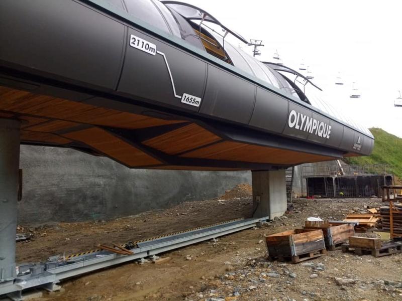 Construction télésiège 6 places (TSD6) de l'Olympique 22488810