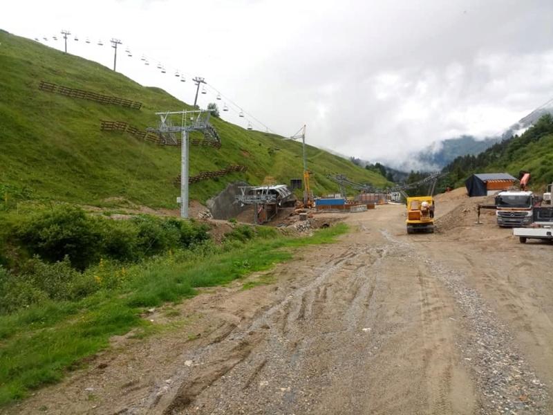 Construction télésiège 6 places (TSD6) de l'Olympique 22490810