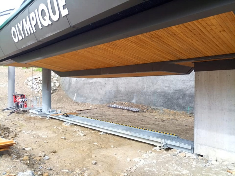 Construction télésiège 6 places (TSD6) de l'Olympique 22548310