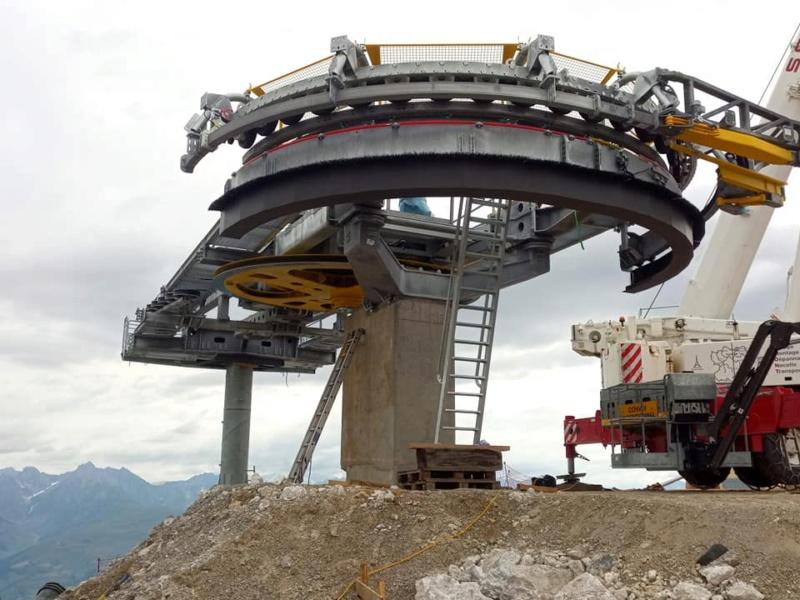 Construction télésiège débrayable TSD6 Lovatière | La Plagne 22657410