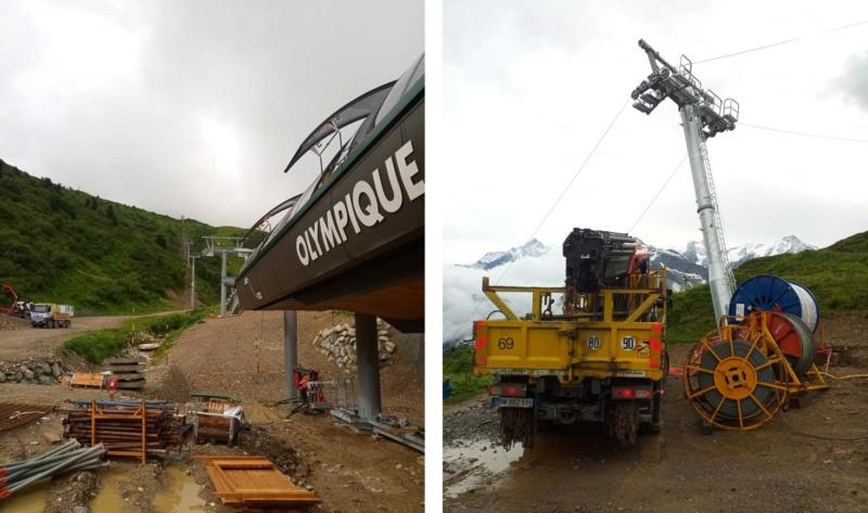 Construction télésiège 6 places (TSD6) de l'Olympique 22666410
