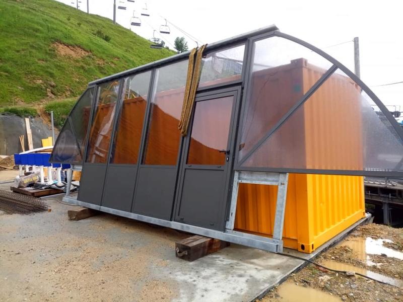 Construction télésiège 6 places (TSD6) de l'Olympique 22683610