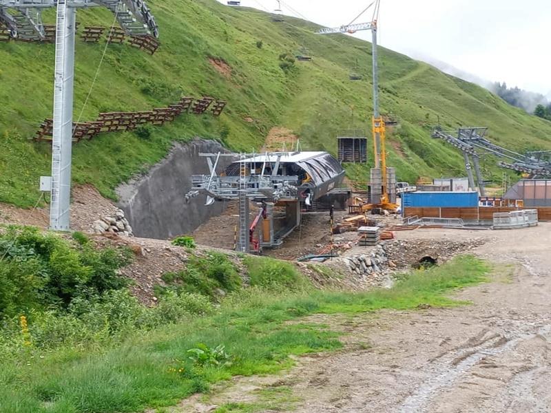 Construction télésiège 6 places (TSD6) de l'Olympique 22704310