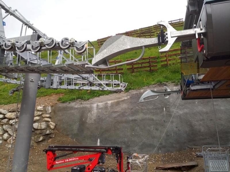Construction télésiège 6 places (TSD6) de l'Olympique 22716010