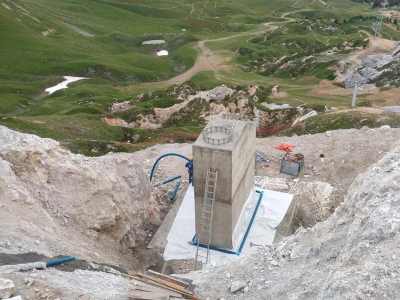 Construction télésiège débrayable TSD6 Lovatière | La Plagne 22750910