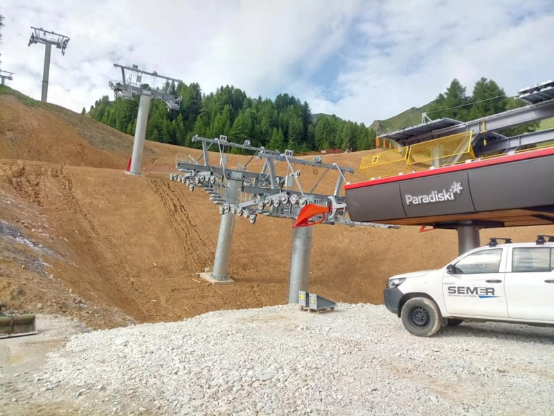 Construction télésiège débrayable TSD6 Lovatière | La Plagne 22884110