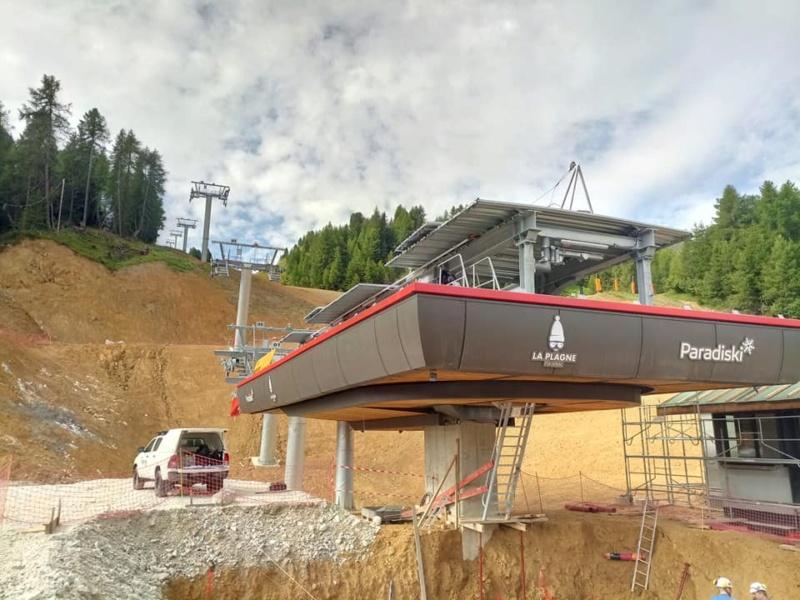 Construction télésiège débrayable TSD6 Lovatière | La Plagne 22933210
