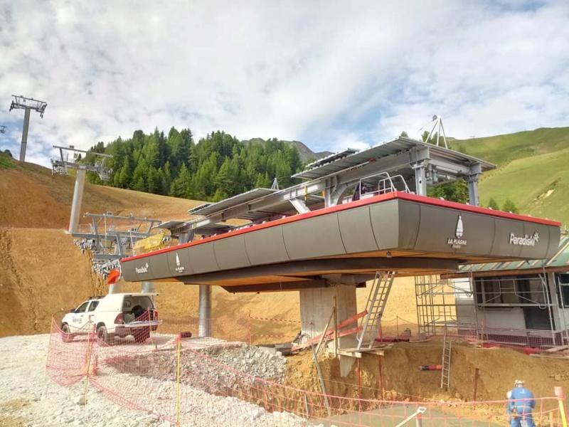 Construction télésiège débrayable TSD6 Lovatière | La Plagne 22967110
