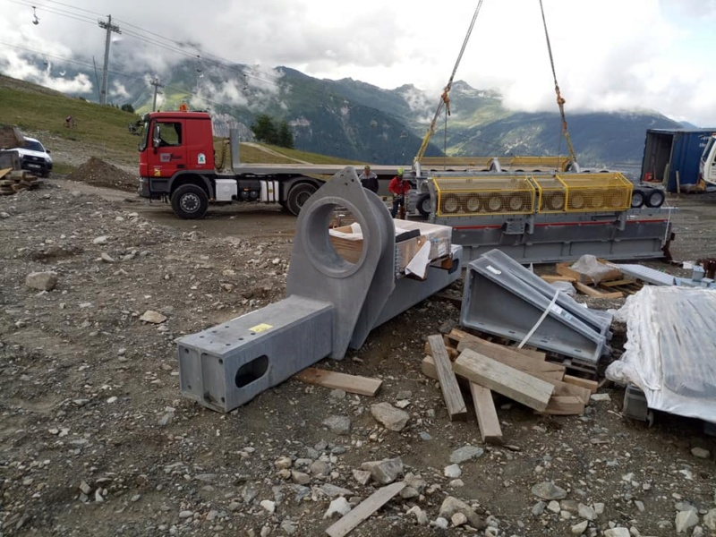 Construction télécabine 10 places (TCD10) Vallandry 23087110