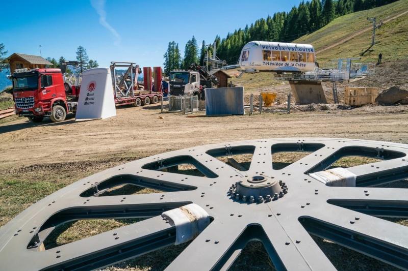 Construction du télésiège fixe 4 places (TSF4) de la Crête - Pelvoux-Vallouise (GMM) 42738310