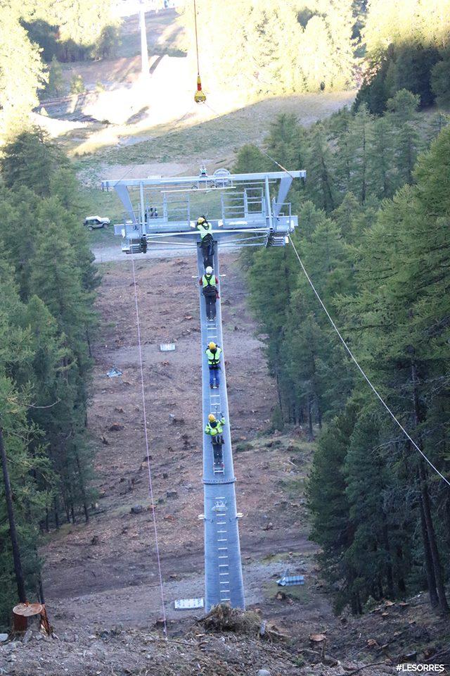 Construction télésiège débrayable Pic Vert, Les Orres D-Line Doppelmayr 42916010