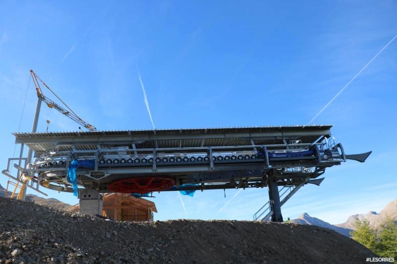 Construction télésiège débrayable Pic Vert, Les Orres D-Line Doppelmayr 42992010