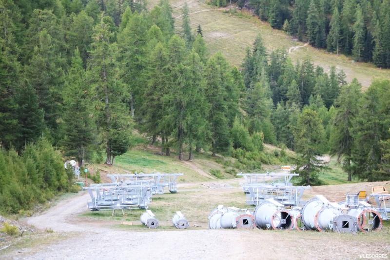 Construction télésiège débrayable Pic Vert, Les Orres D-Line Doppelmayr 43056110