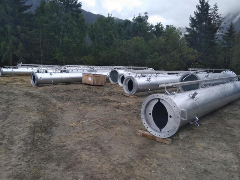Construction télésiège débrayable 6 places (TSD6) des Chattrix 69579310