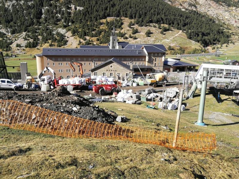 Chantier remplacement télécabine pulsée Coma del Clot - Vall de Núria 72561110