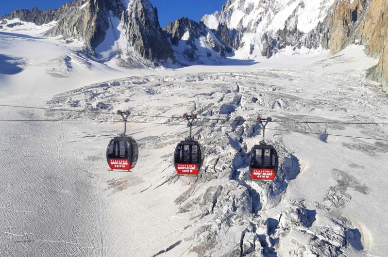 Télécabine bicâble pulsé 12 places (TCP 12) Panoramic Mont-Blanc 92973510