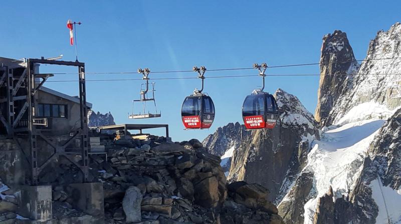 Télécabine bicâble pulsé 12 places (TCP 12) Panoramic Mont-Blanc 93169810