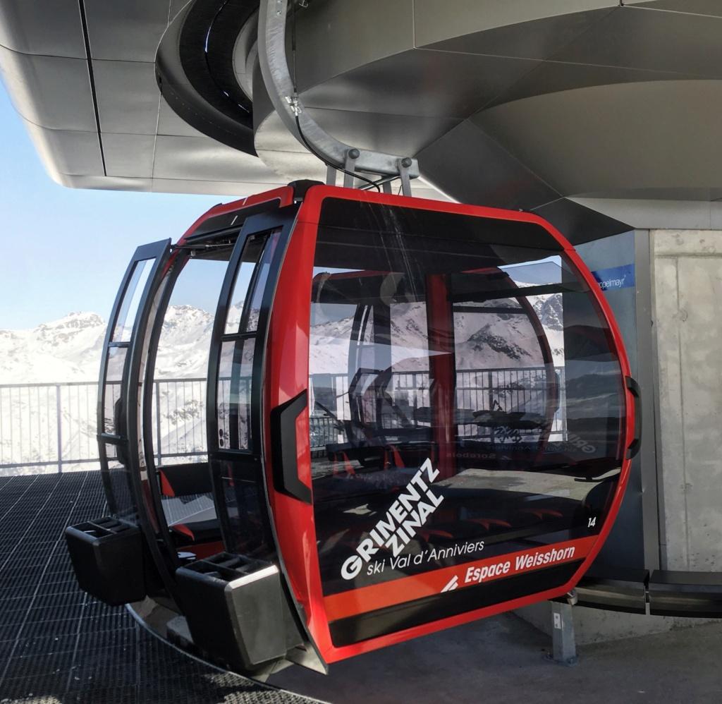 Télécabine débrayable 10 places (TCD10) Zinal - Sorebois - Espace Weisshorn Cabine33