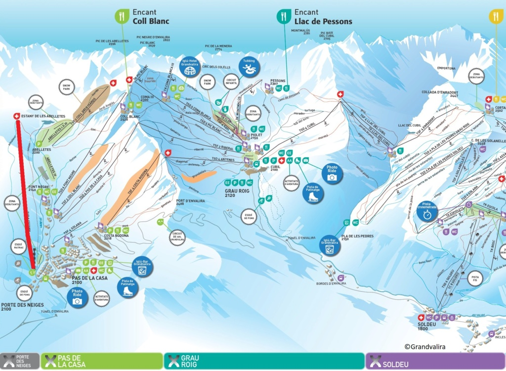 Télésiège débrayable 6 places (TSD6) Estany - Porte des Neiges Carte-10
