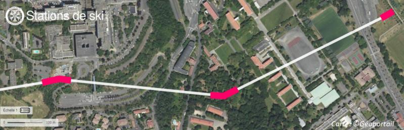 Variantes du tracé de la ligne - Téléphérique Téléo Toulouse Carte_16