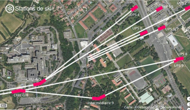 Variantes du tracé de la ligne - Téléphérique Téléo Toulouse Carte_17