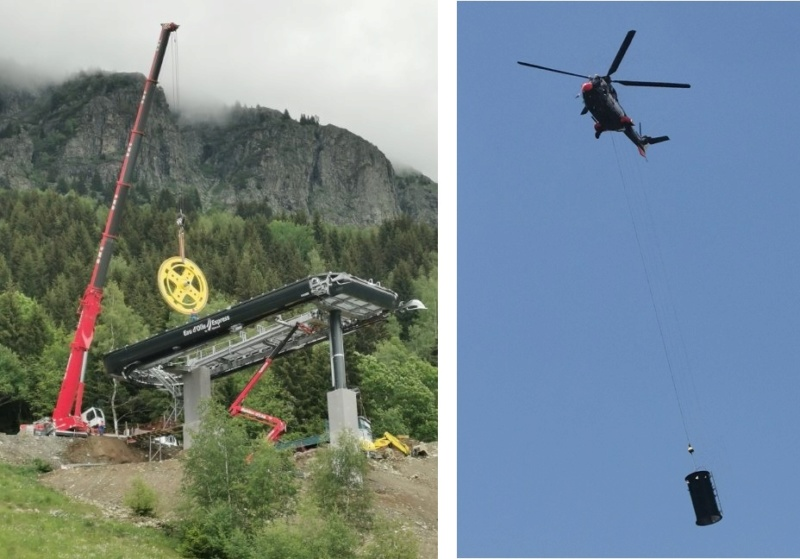 Construction télécabine débrayable (TCD10) Eau d'Olle Express - Oz Chanti14