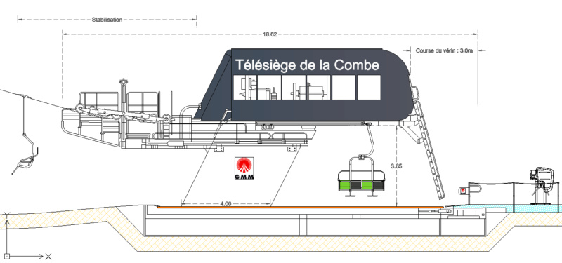 Télésiège fixe 4 places (TSF4) Combe Combe10