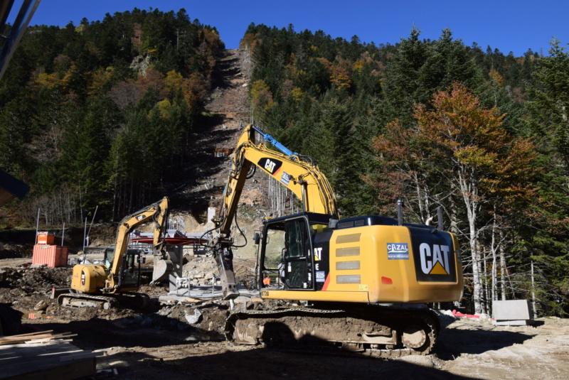 Construction télésiège fixe 4 places Bisorne (TSF4) - LST, Ax 3 Domaines Dsc_0379