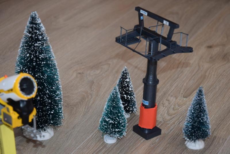 Impression 3D Pylône remontée mécanique miniature Dsc_2291