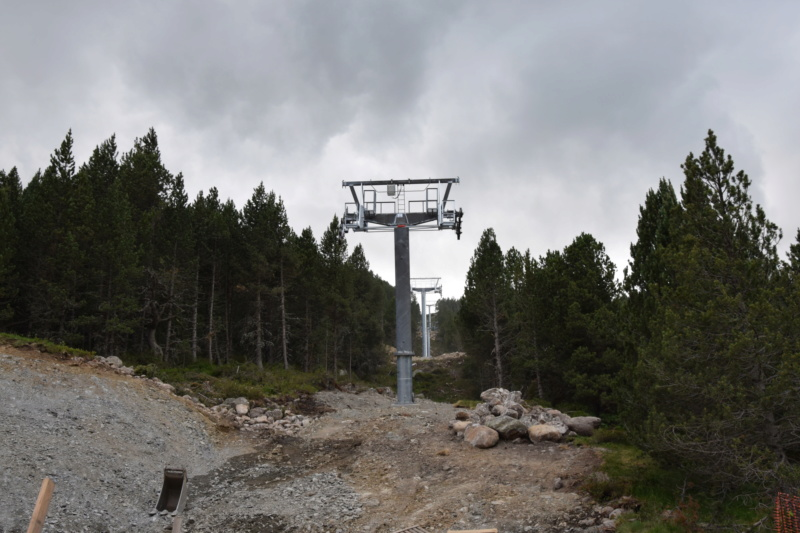Extension, prolongation télésiège débrayable (TSD6) Pla de les Pedres Grau Roig – Grandvalira Dsc_2520