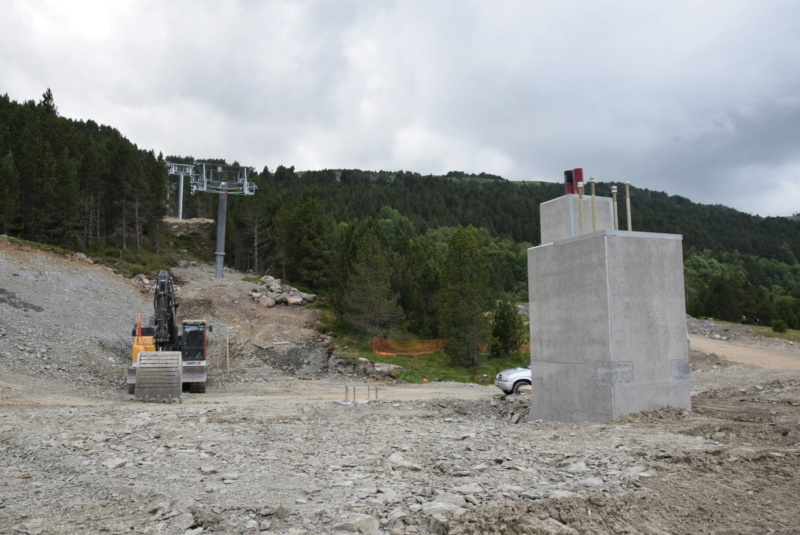 Extension, prolongation télésiège débrayable (TSD6) Pla de les Pedres Grau Roig – Grandvalira Dsc_2521