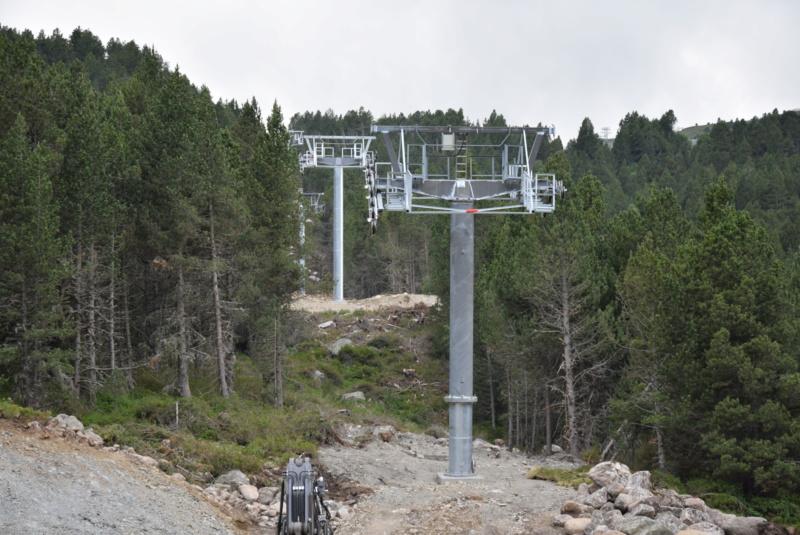 Extension, prolongation télésiège débrayable (TSD6) Pla de les Pedres Grau Roig – Grandvalira Dsc_2523