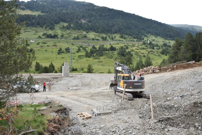 Extension, prolongation télésiège débrayable (TSD6) Pla de les Pedres Grau Roig – Grandvalira Dsc_2526