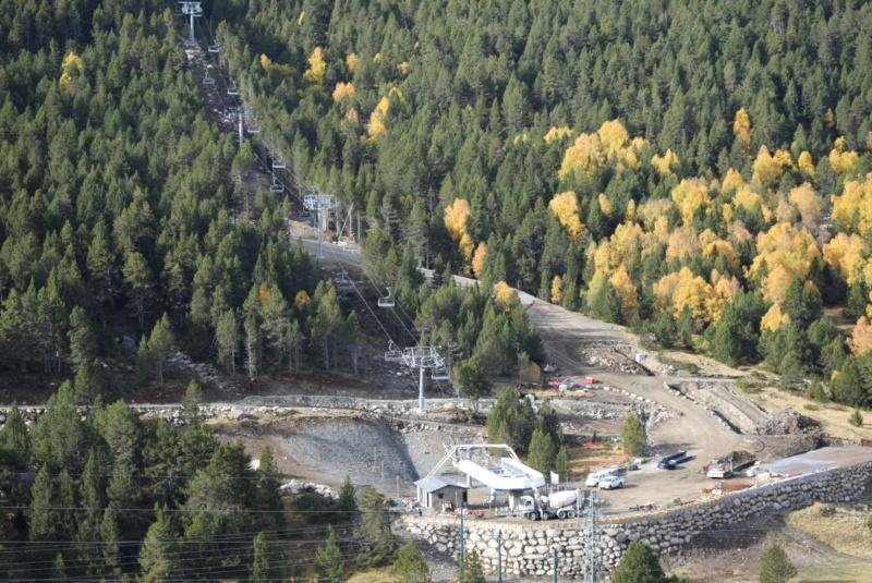 Extension, prolongation télésiège débrayable (TSD6) Pla de les Pedres Grau Roig – Grandvalira Dsc_3214
