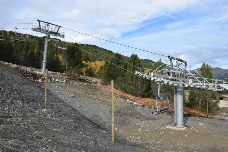 Extension, prolongation télésiège débrayable (TSD6) Pla de les Pedres Grau Roig – Grandvalira Dsc_3223