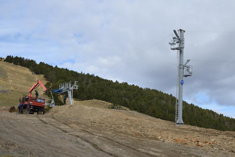 Extension, prolongation télésiège débrayable (TSD6) Pla de les Pedres Grau Roig – Grandvalira Dsc_3270