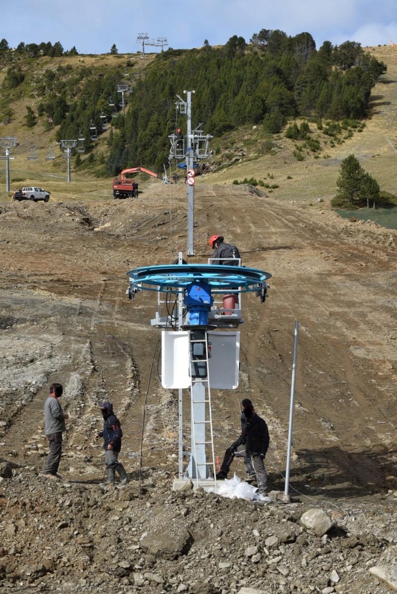 Extension, prolongation télésiège débrayable (TSD6) Pla de les Pedres Grau Roig – Grandvalira Dsc_3278